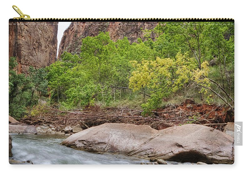 Narrows Carry-all Pouch featuring the photograph The Narrows 4 by Jessica Velasco
