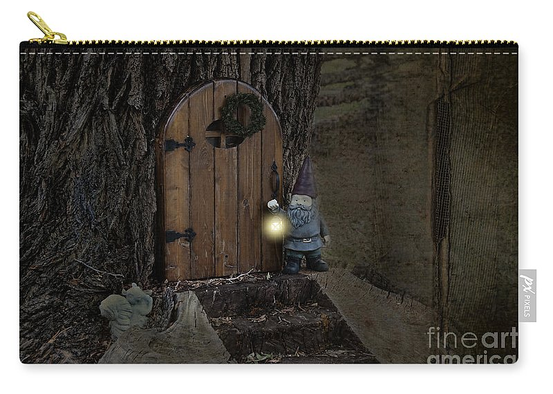 Elf Carry-all Pouch featuring the photograph The Nightstalking Elf by David Arment