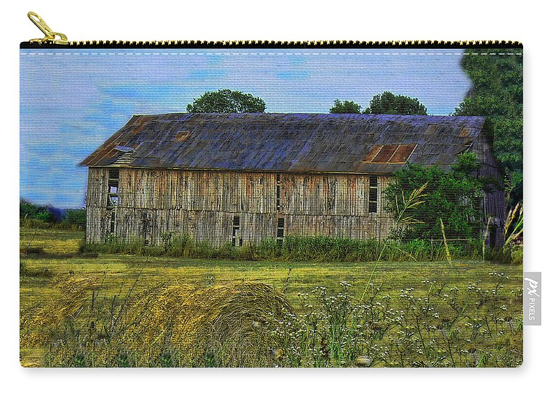 Barn Carry-all Pouch featuring the photograph The Old Barn by Ericamaxine Price