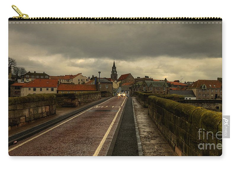 Berwick On Tweed Carry-all Pouch featuring the photograph The Old Bridge At Berwick by Rob Hawkins