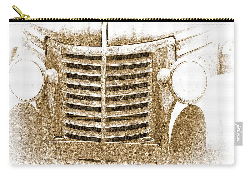 Truck Carry-all Pouch featuring the photograph The Old Chevrolet by Terry Fiala