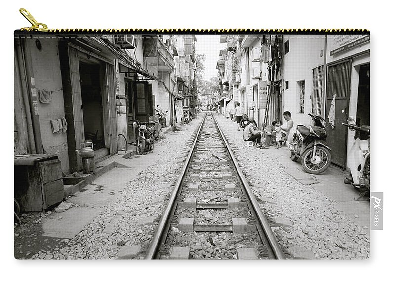 Asia Carry-all Pouch featuring the photograph The Old City Of Hanoi by Shaun Higson