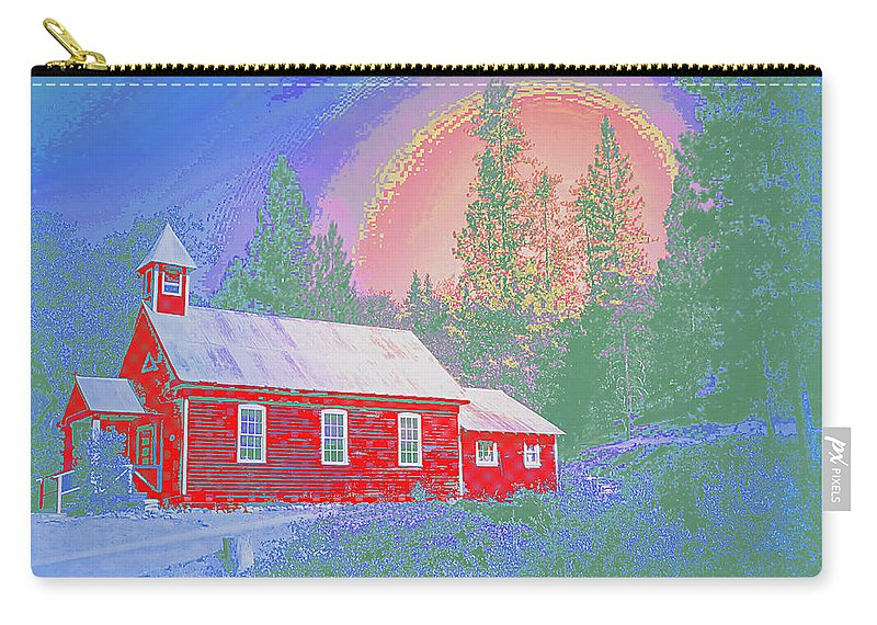 Schoolhouse Carry-all Pouch featuring the photograph The Old Schoolhouse Library by Joyce Dickens