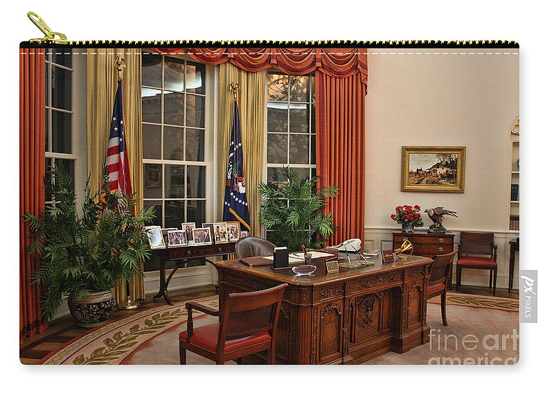 Ronald Reagan Carry-all Pouch featuring the photograph The Oval Office by Tommy Anderson