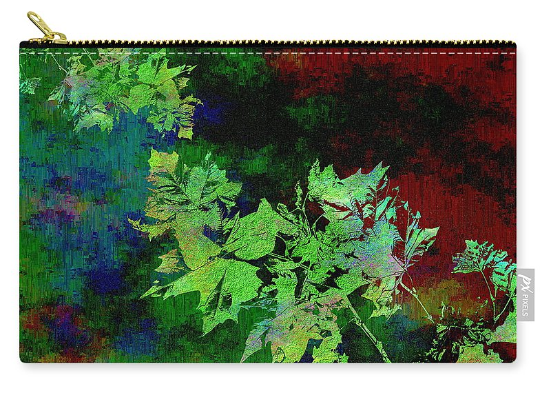 Abstract Carry-all Pouch featuring the digital art The Painted Arbor by Tim Allen