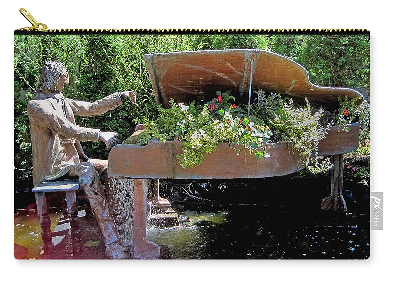 Musical Carry-all Pouch featuring the photograph The Pianist by David Salter