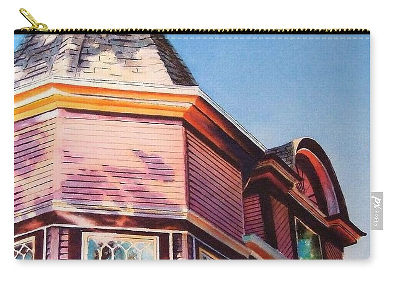 Historic Home Carry-all Pouch featuring the painting The Pink Lady by Greg and Linda Halom