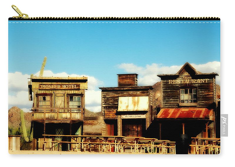 The Pioneer Hotel Carry-all Pouch featuring the photograph The Pioneer Hotel Old Tuscon Arizona by Susanne Van Hulst