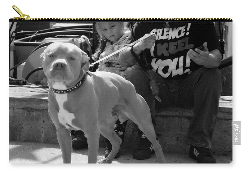 Staffordshire Bull Terrier Carry-all Pouch featuring the photograph The Pit by Marysue Ryan