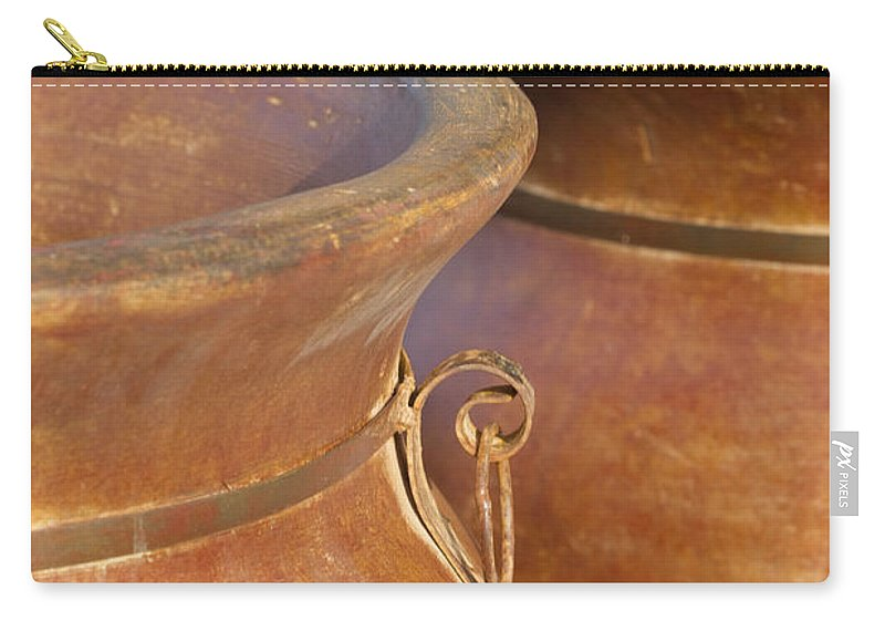 Terracotta Carry-all Pouch featuring the photograph The Potters Wares by Kathy Clark
