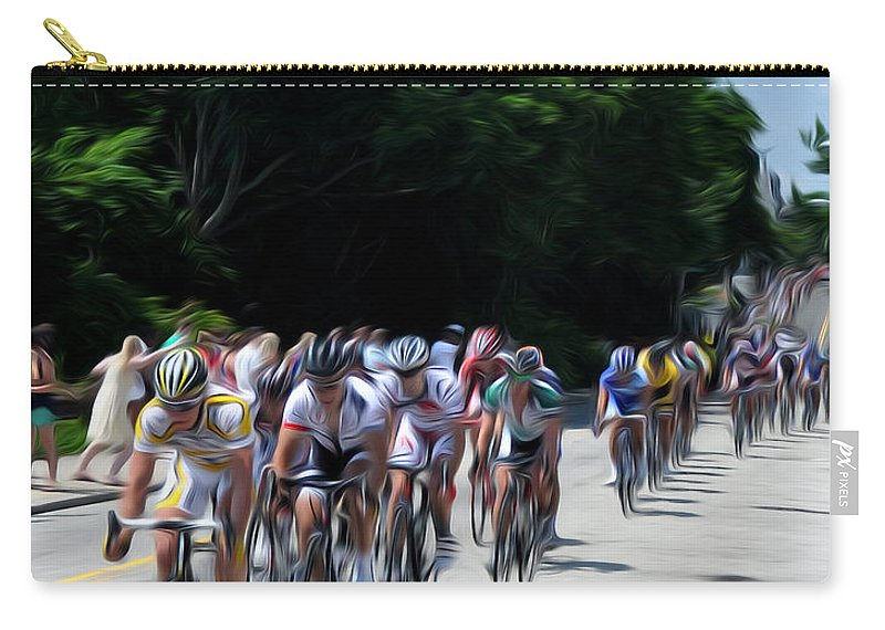 Manayunk Carry-all Pouch featuring the photograph The Race Is On by Bill Cannon