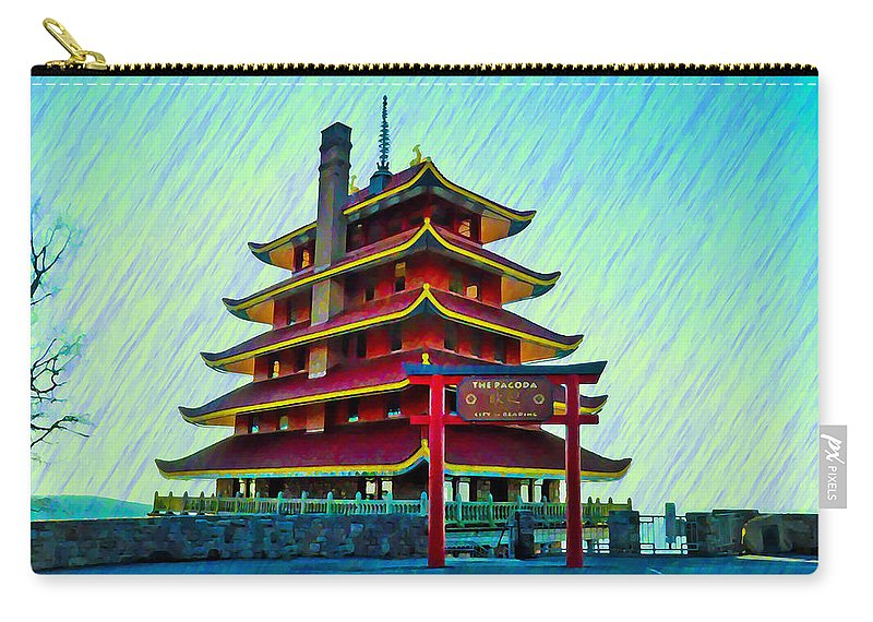 Reading Carry-all Pouch featuring the photograph The Reading Pagoda by Bill Cannon
