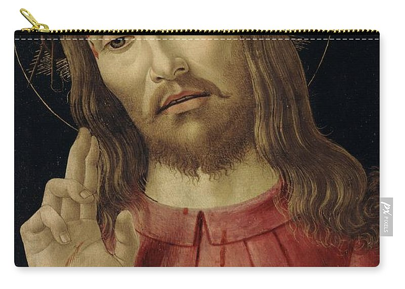 The Carry-all Pouch featuring the painting The Resurrected Christ by Sandro Botticelli
