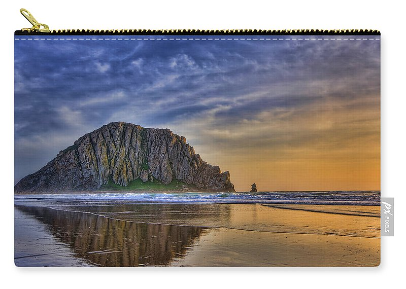 Sunset Carry-all Pouch featuring the photograph The Rock by Beth Sargent