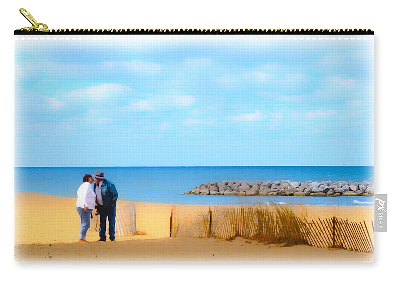 Cape Cod Carry-all Pouch featuring the photograph The Romantic Beach by Randall Branham