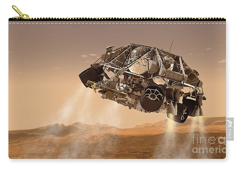 Horizontal Carry-all Pouch featuring the digital art The Rover And Descent Stage For Nasas by Stocktrek Images