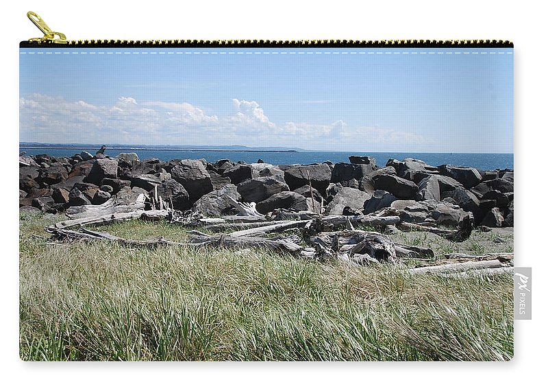 Ocean Carry-all Pouch featuring the photograph The Rugged Coast by Michael Merry