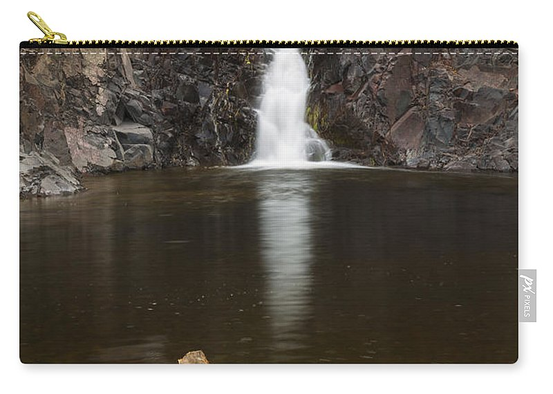 The Carry-all Pouch featuring the photograph The Shallows Waterfall 2 by John Brueske