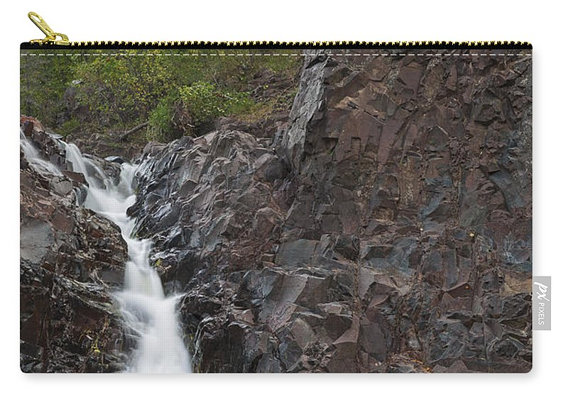 The Carry-all Pouch featuring the photograph The Shallows Waterfall 4 by John Brueske