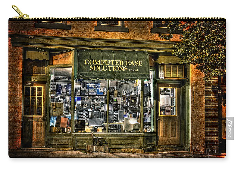 Napanee Carry-all Pouch featuring the photograph The Shop by John Herzog