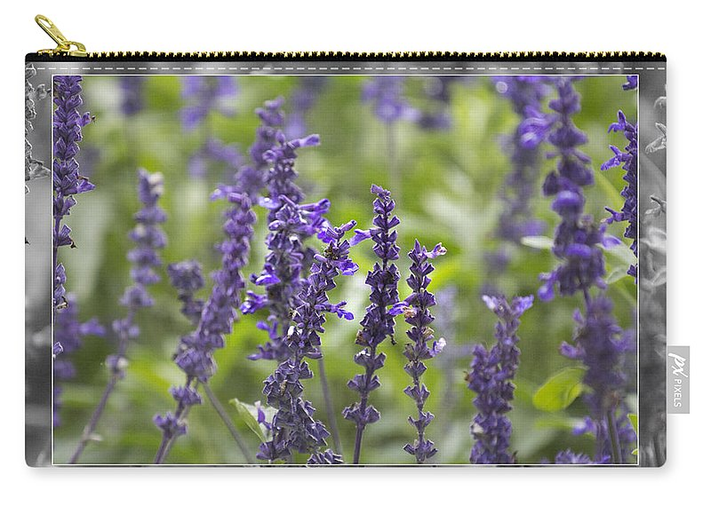 Smell Carry-all Pouch featuring the photograph The Smell Of Lavender by Douglas Barnard