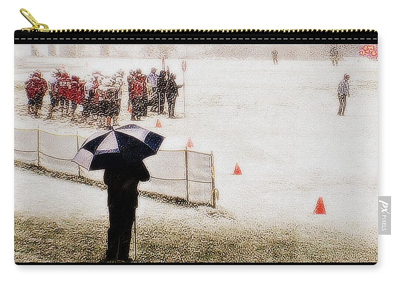 Groton School Carry-all Pouch featuring the photograph The Snow Game by Marysue Ryan