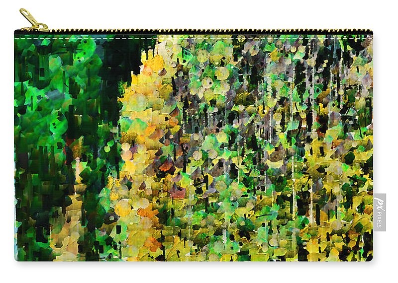 Speckle Carry-all Pouch featuring the photograph The Speckled Trees by Steve Taylor