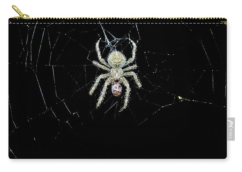 Spider Carry-all Pouch featuring the photograph The Spider by Sherman Perry