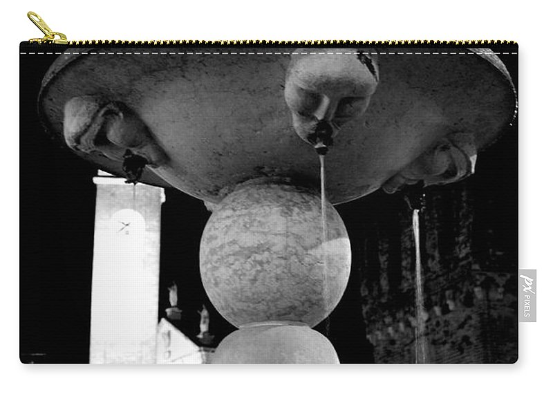 Fountain Carry-all Pouch featuring the photograph The Strange Fountain by Donato Iannuzzi