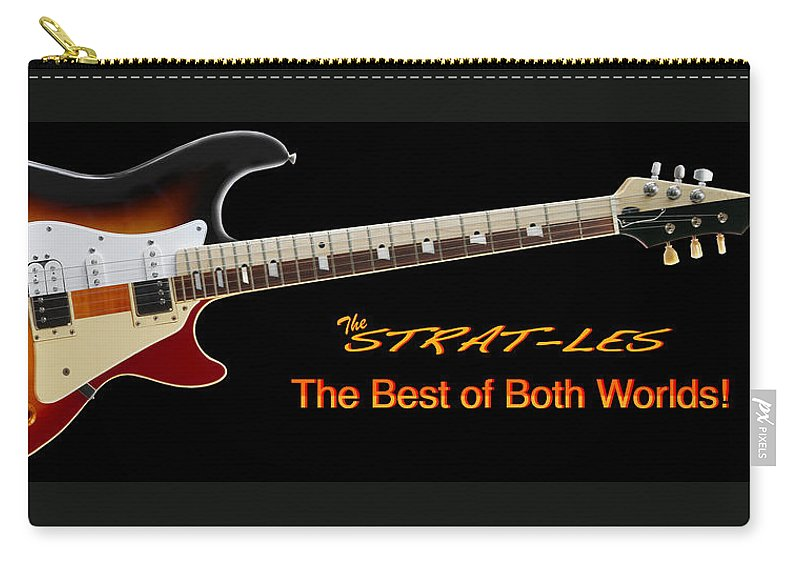 Classic Guitars Carry-all Pouch featuring the photograph The Strat Les Guitar by Mike McGlothlen