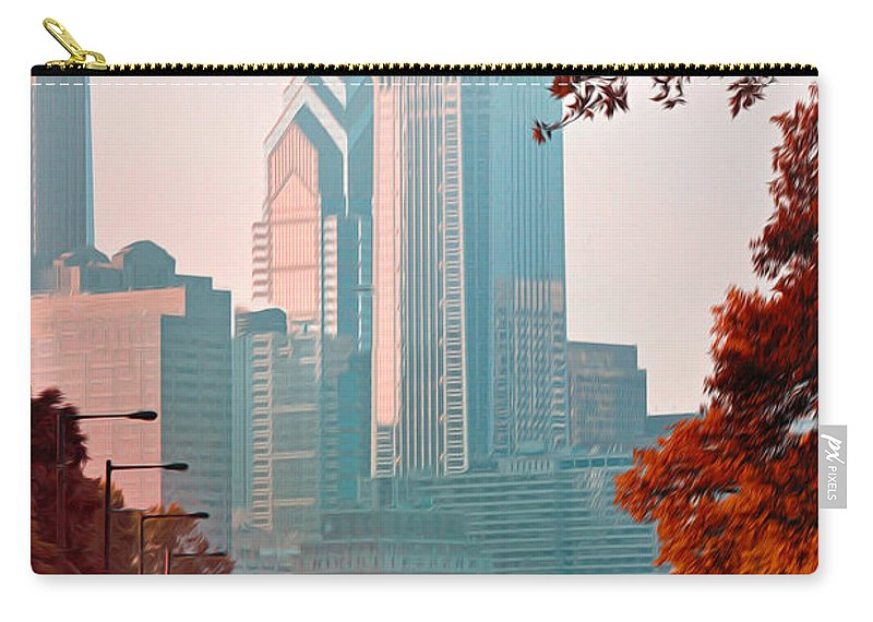 The Streets Of Philadelphia Carry-all Pouch featuring the photograph The Streets Of Philadelphia by Bill Cannon