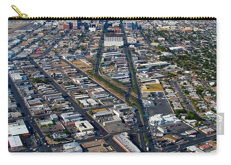 Las Carry-all Pouch featuring the photograph The Strip by Art Dingo