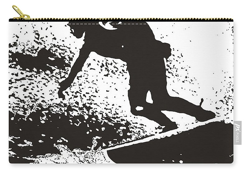 Cornish Seascape Carry-all Pouch featuring the photograph The Surfer by Brian Roscorla