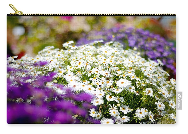 Flower Carry-all Pouch featuring the photograph The Symmetry by Syed Aqueel