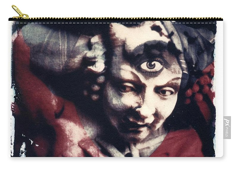 Polaroid Transfer Carry-all Pouch featuring the photograph The Third Eye Polaroid transfer by Jane Linders