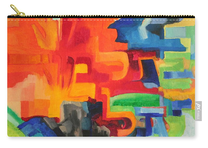 Torah Carry-all Pouch featuring the painting The Torah Is Aquired By Learning by David Baruch Wolk
