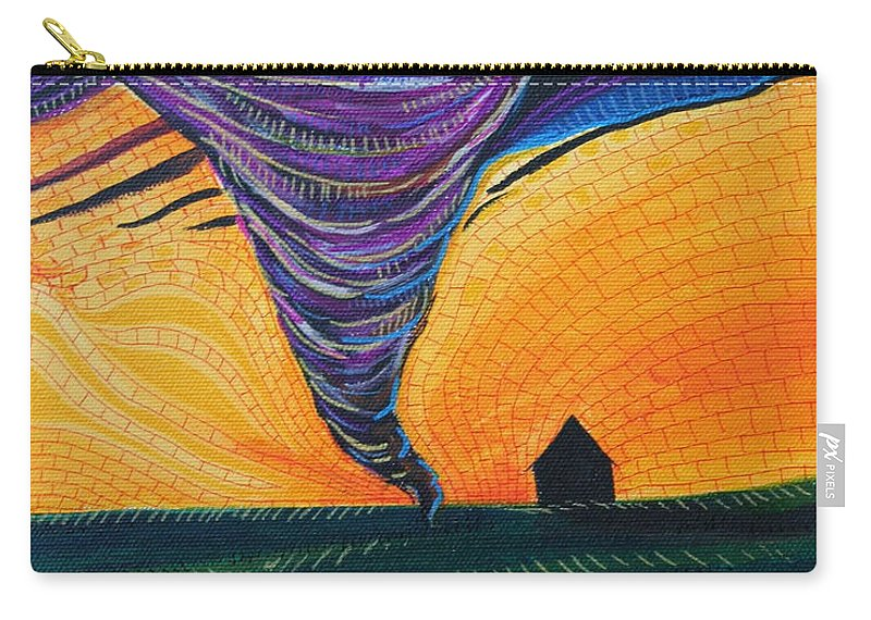 Wizard Of Oz Carry-all Pouch featuring the painting The Tornado by Kate Fortin