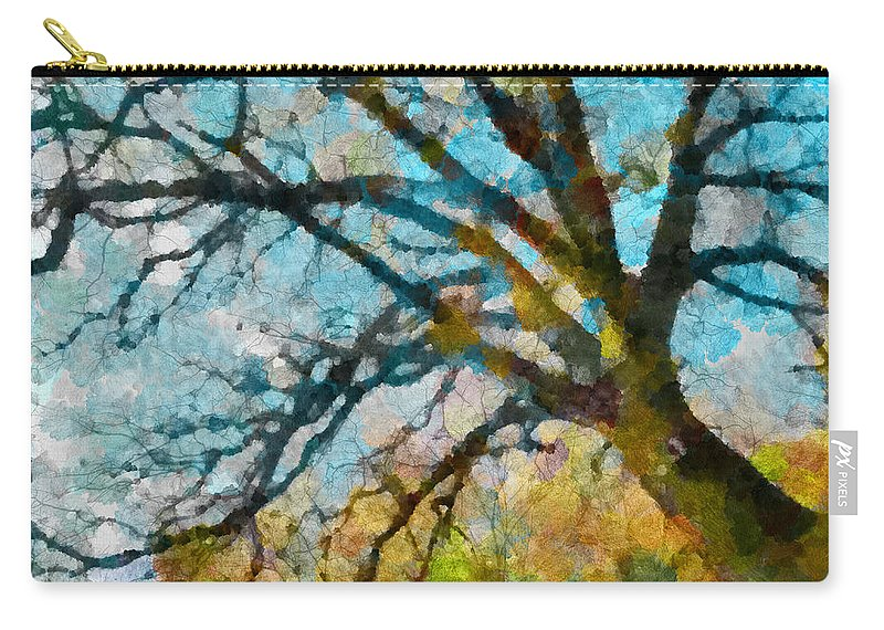 Multicolour Carry-all Pouch featuring the photograph The Tree Of Many Colours by Steve Taylor