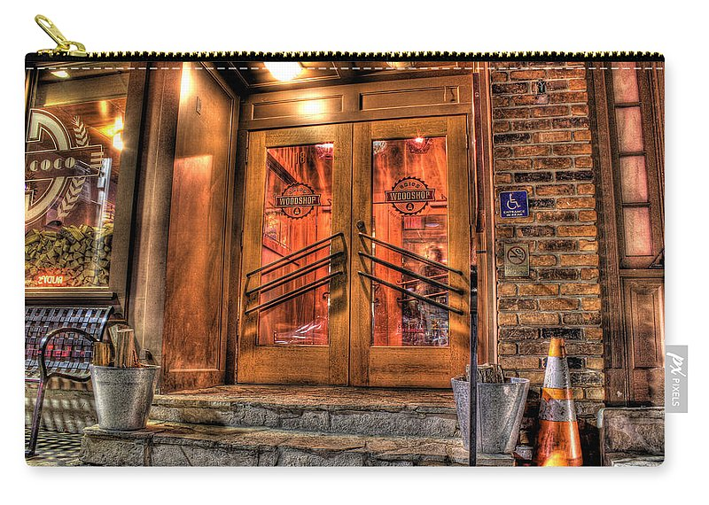 Carry-all Pouch featuring the photograph The Union Woodshop Clarkston Mi by Nicholas Grunas
