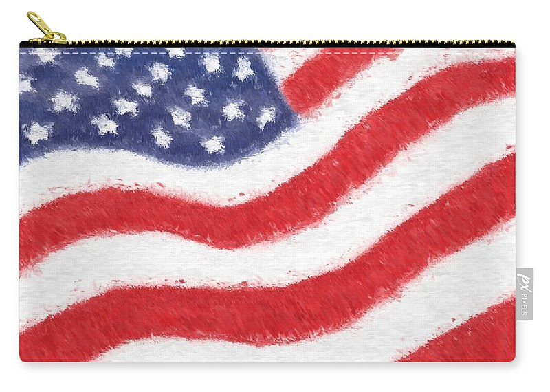 Usa Carry-all Pouch featuring the glass art The United States Flag by Heidi Smith