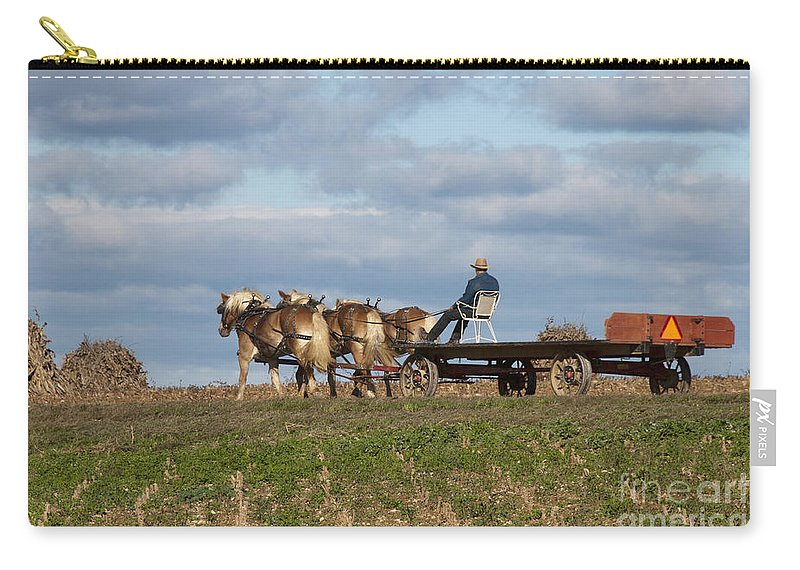 Amish Carry-all Pouch featuring the photograph The Wagon by David Arment