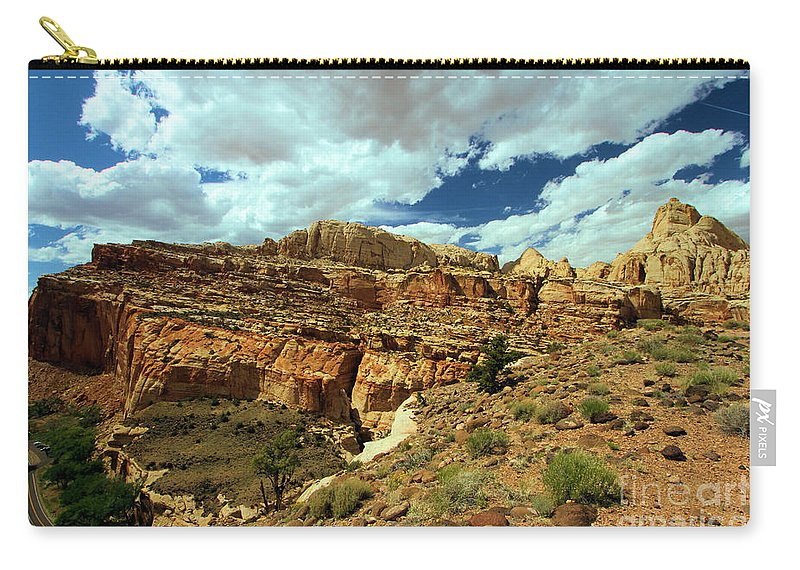 Capitol Reef National Park Carry-all Pouch featuring the photograph The Waterpocket Fold by Adam Jewell