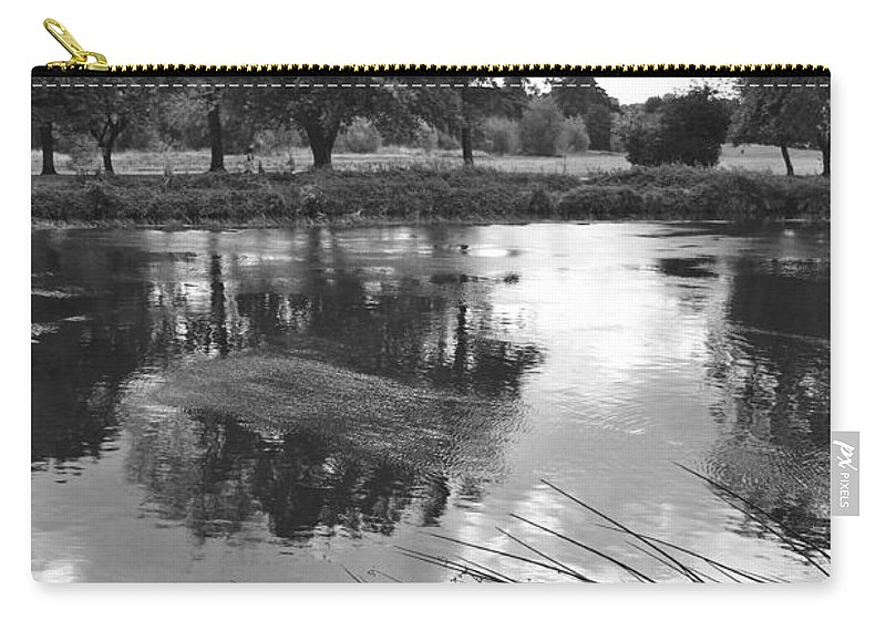 Burton On Trent Carry-all Pouch featuring the photograph The Wind-swept River Trent At Stapenhill by Rod Johnson