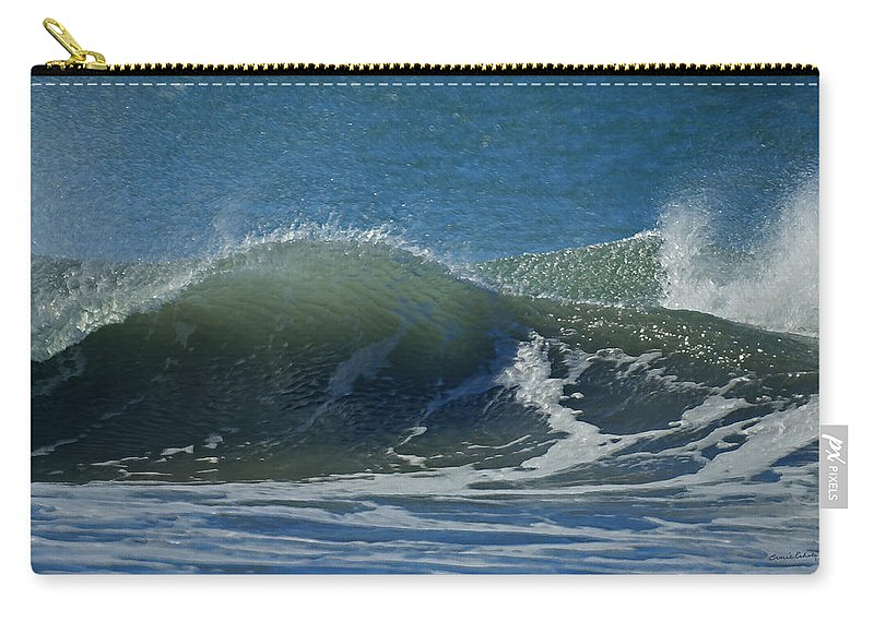 Beaches Carry-all Pouch featuring the photograph The Windblown Wave by Ernie Echols
