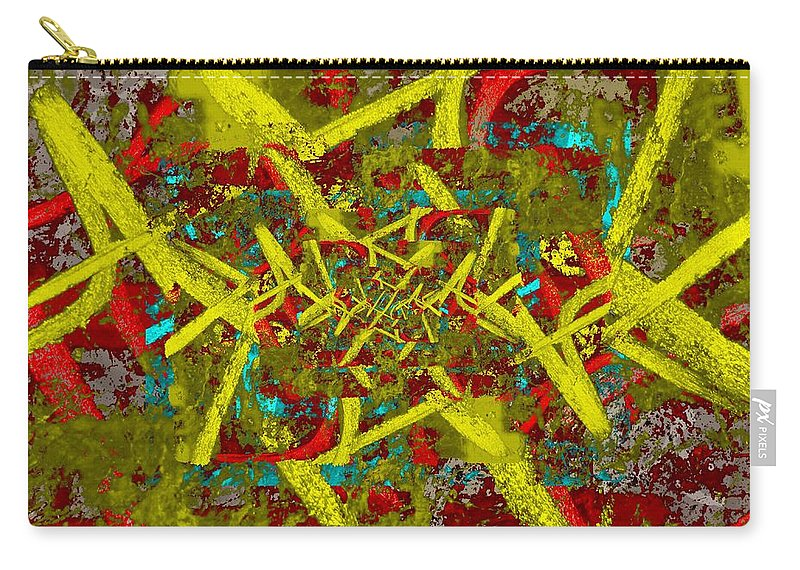 Abstract Carry-all Pouch featuring the digital art The Writing On The Wall 6 by Tim Allen