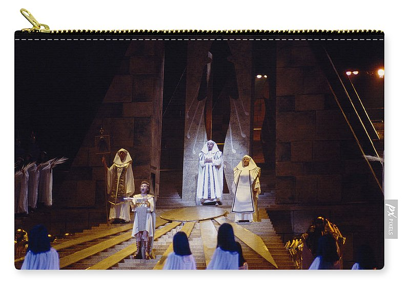 Verdi Carry-all Pouch featuring the photograph Verdi's Aida by Shaun Higson