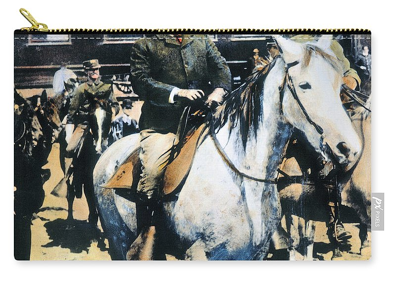 1903 Carry-all Pouch featuring the photograph Theodore Roosevelt, 1903 by Granger