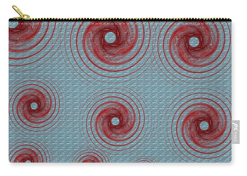 Fractals Carry-all Pouch featuring the digital art There Were 13 by Betsy Knapp