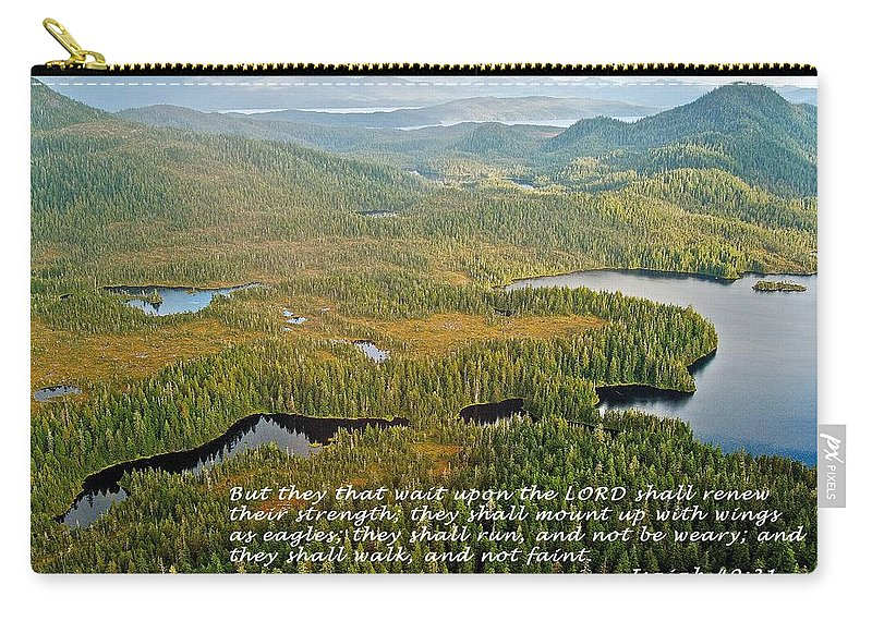 40:13 Carry-all Pouch featuring the photograph They That Wait 8995 by Michael Peychich
