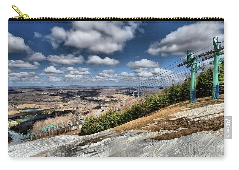 Skiing Carry-all Pouch featuring the photograph Thin Cover by Adam Jewell